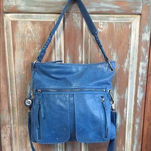 NWOT Wonderful Distressed Leather Crossbody Bag